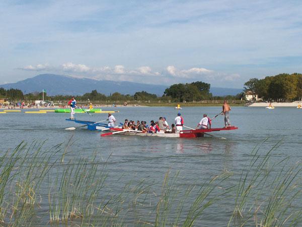 Joutes aquatiques sur le Lac de Beaulieu